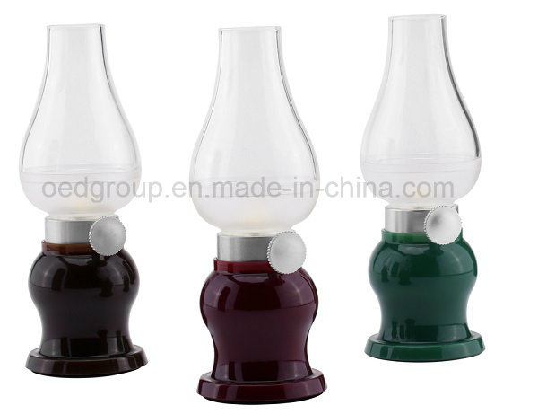 Rechargeable LED Blowing Table Lamp with Dimmer Control From China Supplier