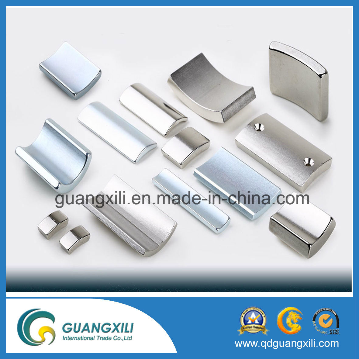 N35 N38 N40 NdFeB Permanent Magnet with Nickel Plating