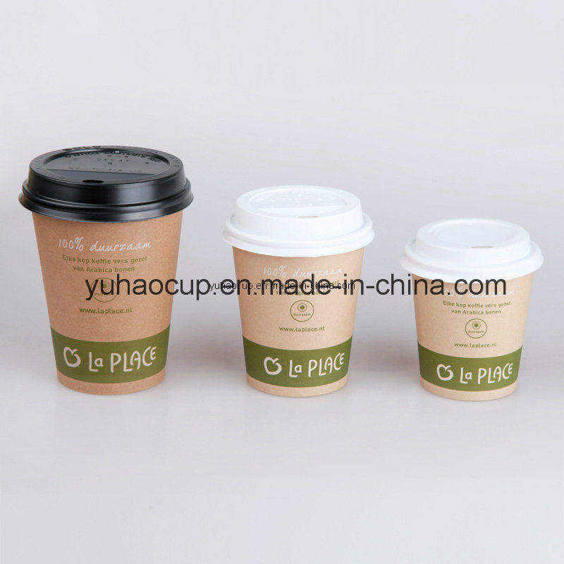 4/6/8oz Brown Paper Cup, Kraft Paper Cup for Hot Coffee