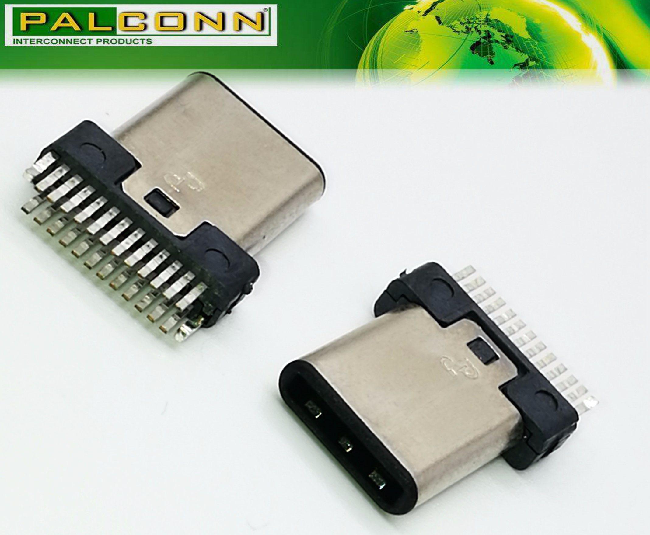 High Quality USB 3.1 Type C Male Plug 22 Pin USB-If Number: 5, 200, 000, 284