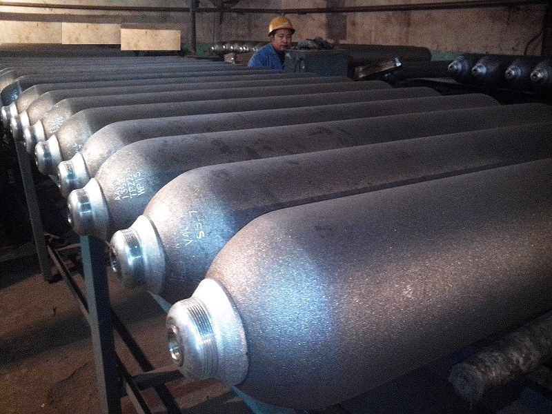 Seamless Steel Industrial Gas Cylinder