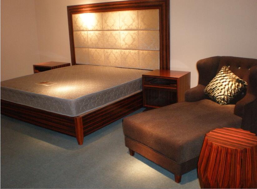 2016 Kingsize Luxury Chinese Wooden Restaurant Hotel Bedroom Furniture (GLB-60008)