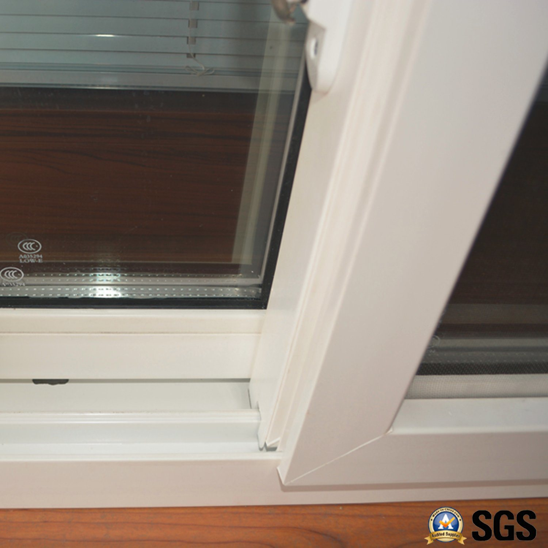 White Colour UPVC Profile Sliding Window with Mosquito Net K02050