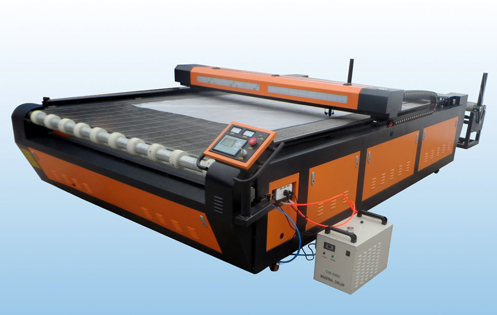 Leather Fabric Cloth Laser Cutting Machine with Auto Feeding System