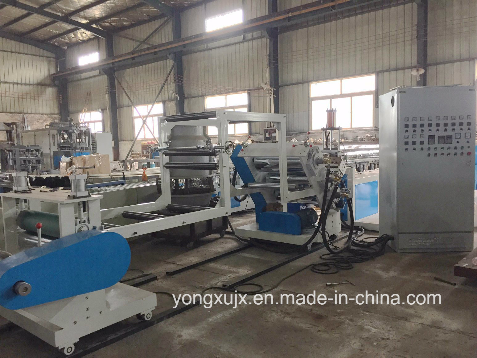 Single Screw One Layer Plastic Sheet Extruder Machine, Plastic Sheet Extruding Machine, Plastic Sheet Extruder in Roll, Single Screw Plast Sheet Machine (YXPC)