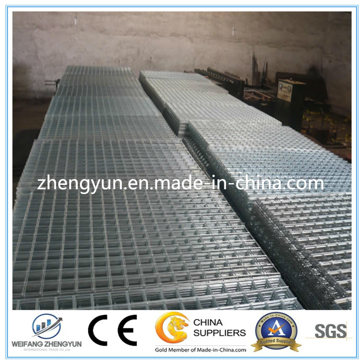 Construction Galvanized Welded Wire Fence Mesh Panel