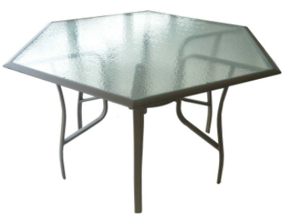 Sturdy Hexagonal Glass Garden Dining Table Outdoor Garden  : Sturdy Hexagonal Glass Garden Dining Table Outdoor Garden Furniture BZ TA004  from fsfurniture.en.made-in-china.com size 591 x 457 jpeg 22kB