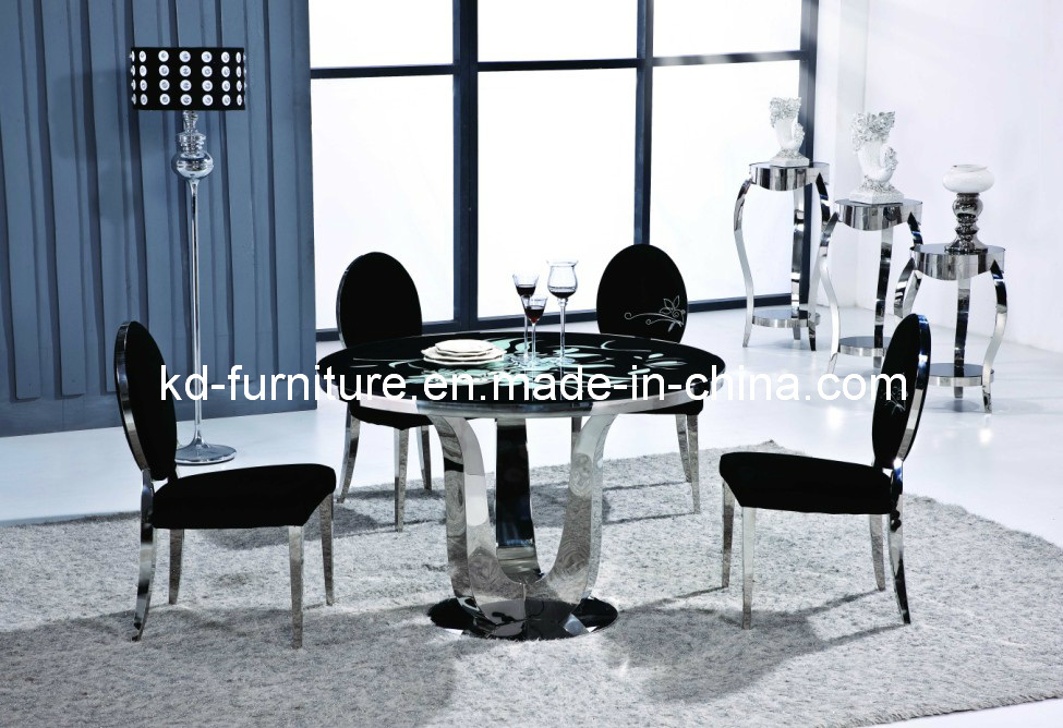 Stainless Steel FurnitureRound Dining Table with  : Stainless Steel Furniture Round Dining Table with Turnplate Glass Top Table T20  from kd-furniture.en.made-in-china.com size 975 x 668 jpeg 248kB