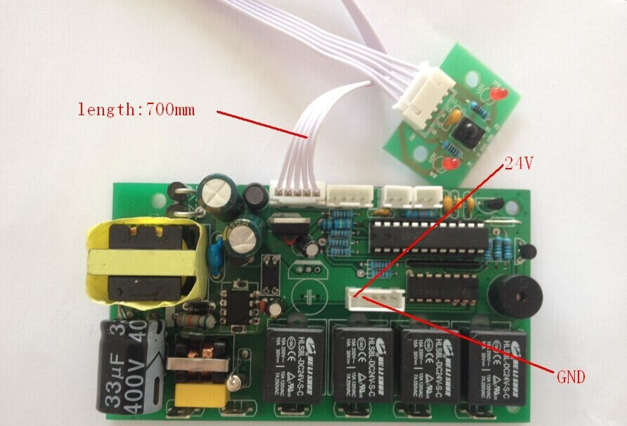 Output 24VDC Fireplace Remote Controller and PCBA