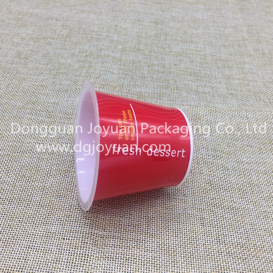 Red Disposable Cup Printed Dessert Cup