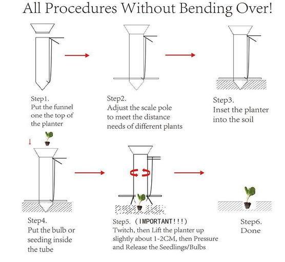 Ilot Improved Manual Bulb Vegetable Seeding Handheld Transplanter