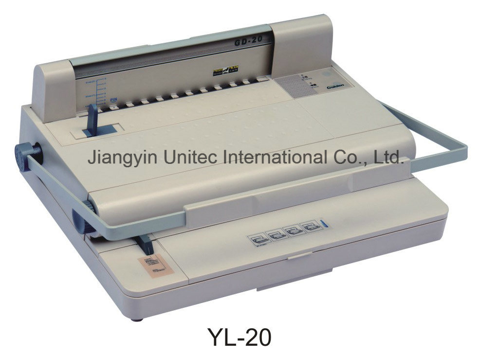 Hot Sale Office Book Binding Velo Strips Binding Machine