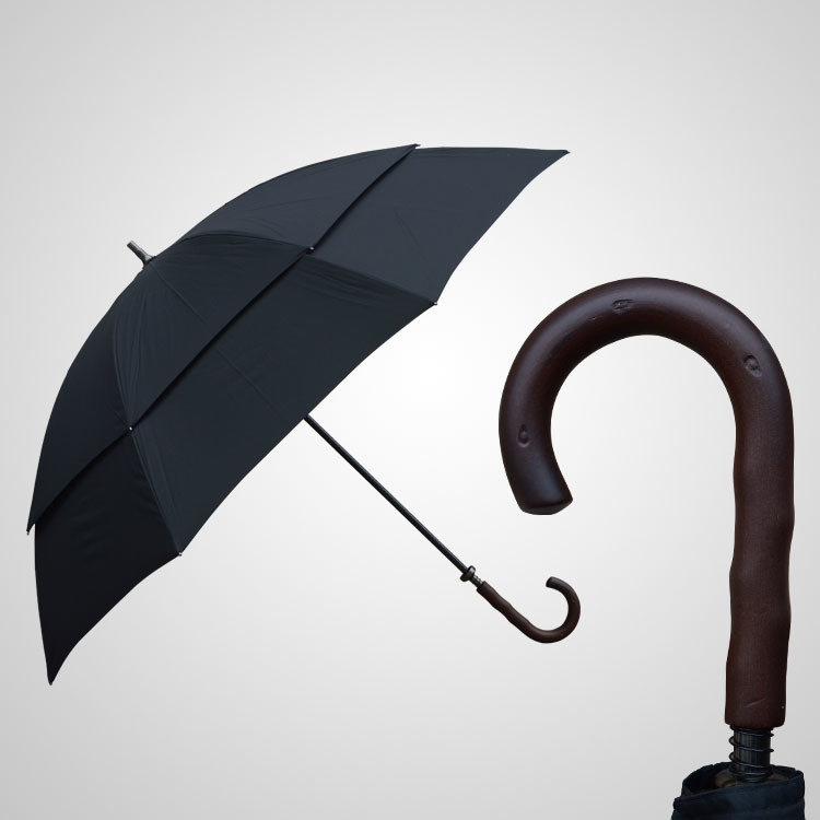 Double Layer Golf Umbrella Regular Manual Umbrella