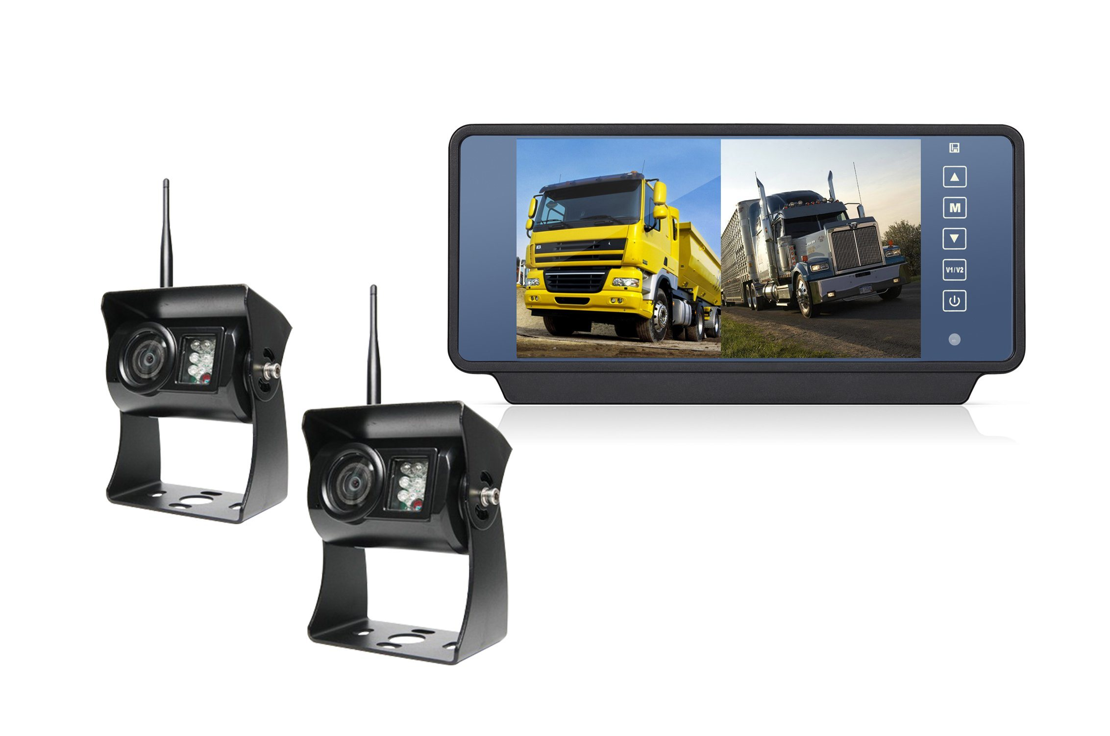 """7"""" Two-Way Wireless System Truck Camera with Mirror Monitor, Ce and RoHS Directive-Compliant"""