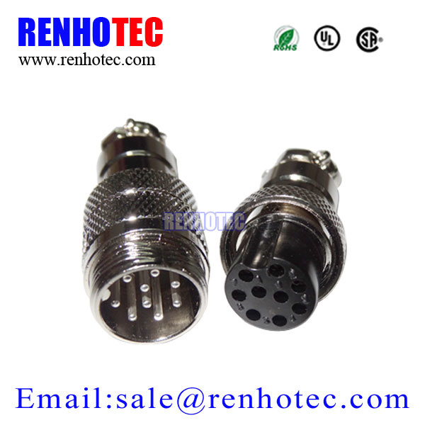16mm 9pin Male Female Wire Circular Connector Gx16 Aviation Plug Socket
