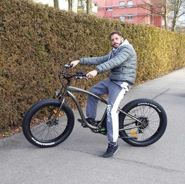 2016 Powerful Cool Fat Cruiser Electric Bike En15194 Approved 48V 500W/750W/1000W