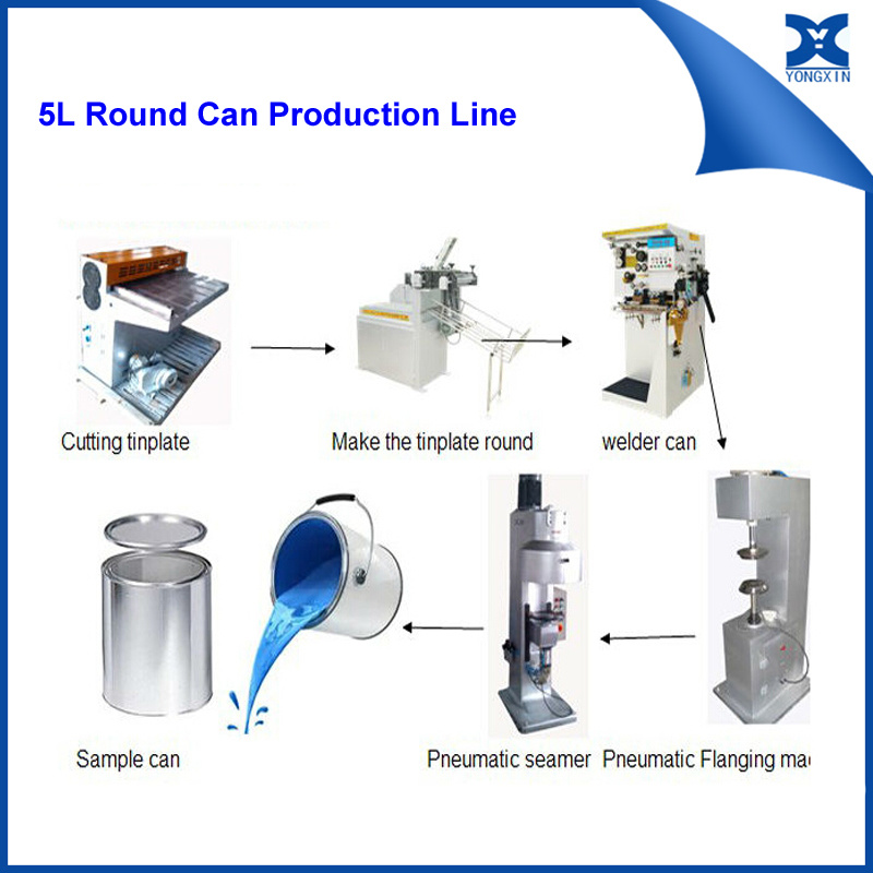 Small Can Equipment Paint Metal Can Making Machine Line