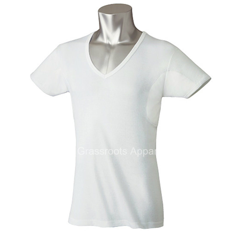 Undershirt Anti-Sweat Slim Fit V Neck Mens T-Shirts
