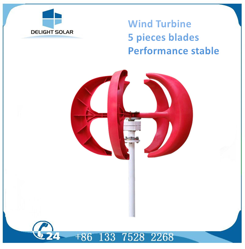 200W Promotion Price Eight Blades Vawt Vertical Axis Wind Turbine