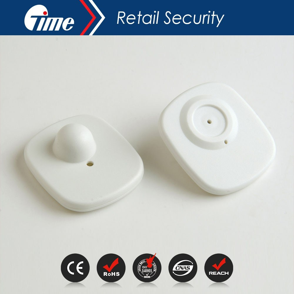 Anti Theft RF 8.2MHz EAS Square Hard Tag for Garments
