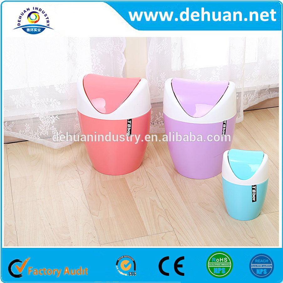 Candy Colors Trash Can/ Trash Bin / Waste Bin Withi Different Shapes and Sizes
