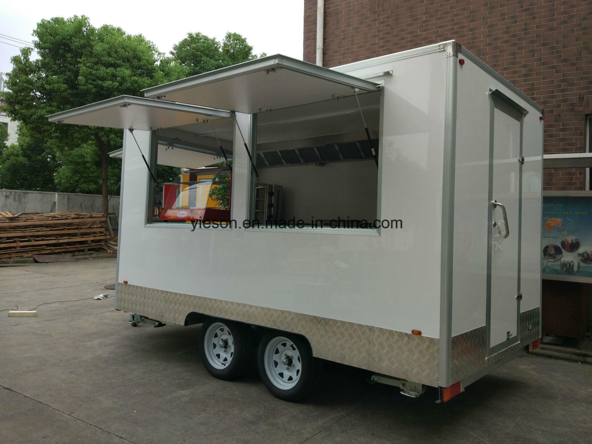 Ice Cream Fibreglass Caravan Mobile Kebab Van Mobile Food Trucks