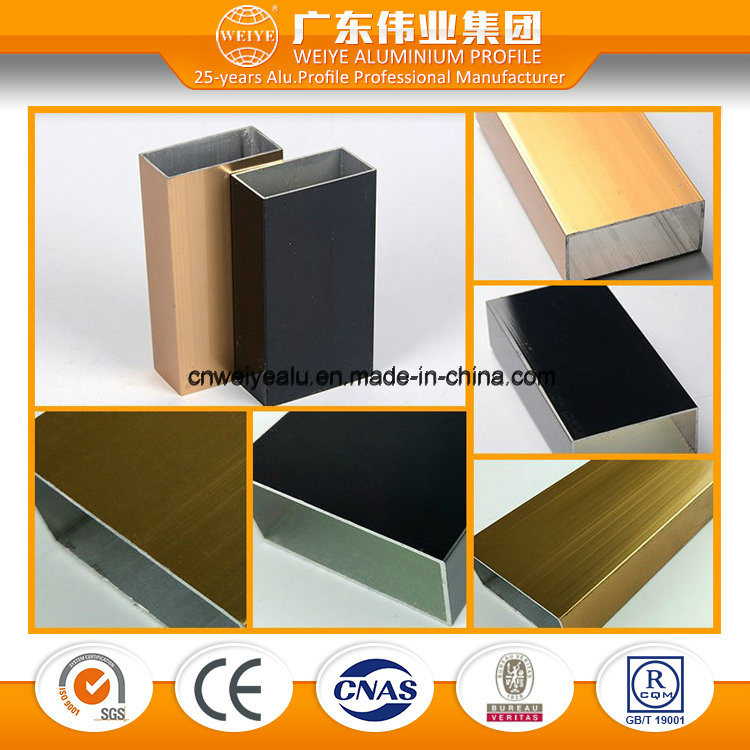 Wood Grain Surface Aluminium Extrusion for Window and Door