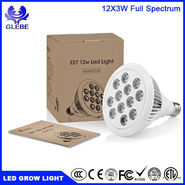 E26/E27 LED Grow Bulb Light 12W 24W 36W Parlight Spot Grow Light