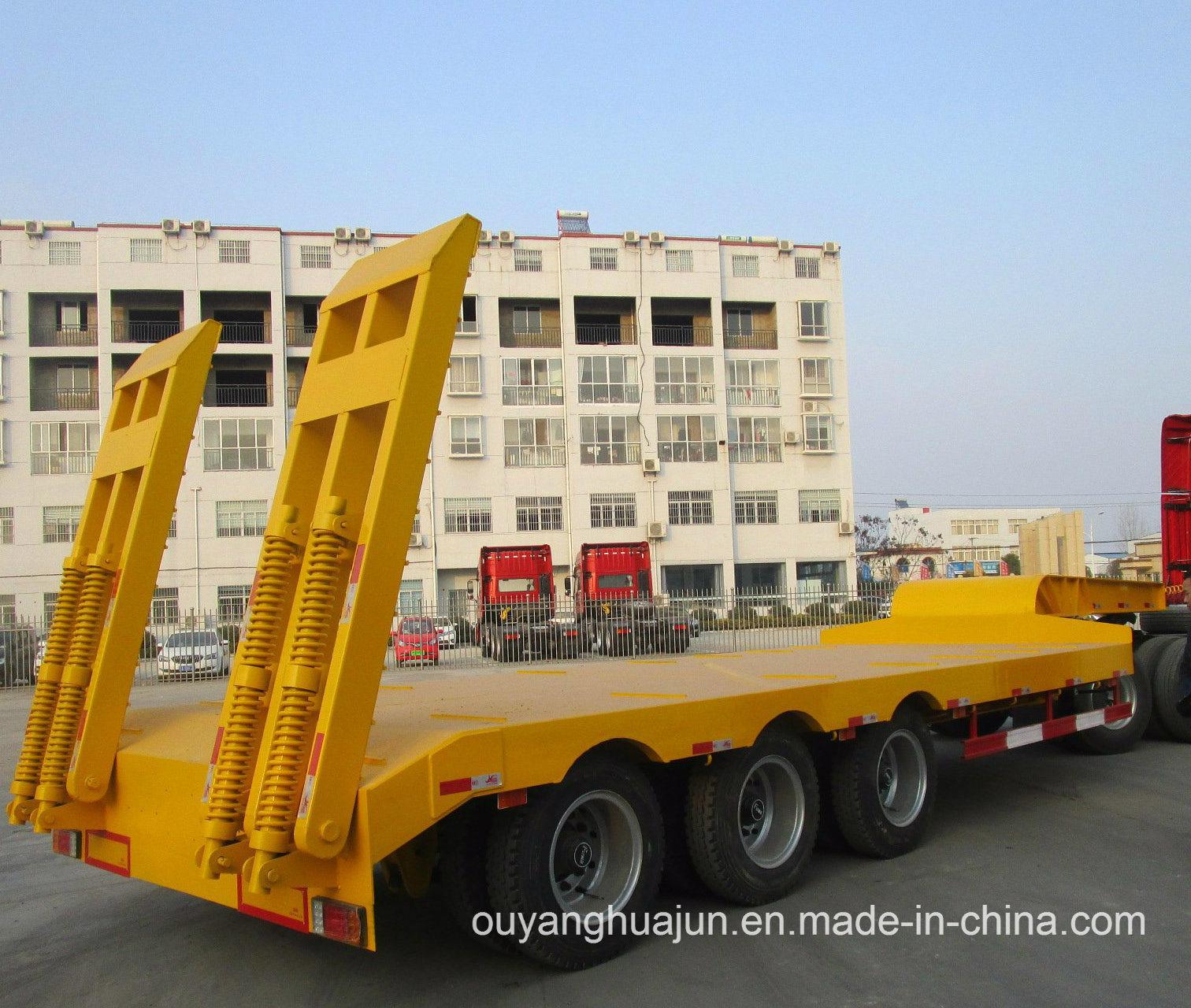 2 Axles Gooseneck Excavator Carrier Vehicle Semitrailer