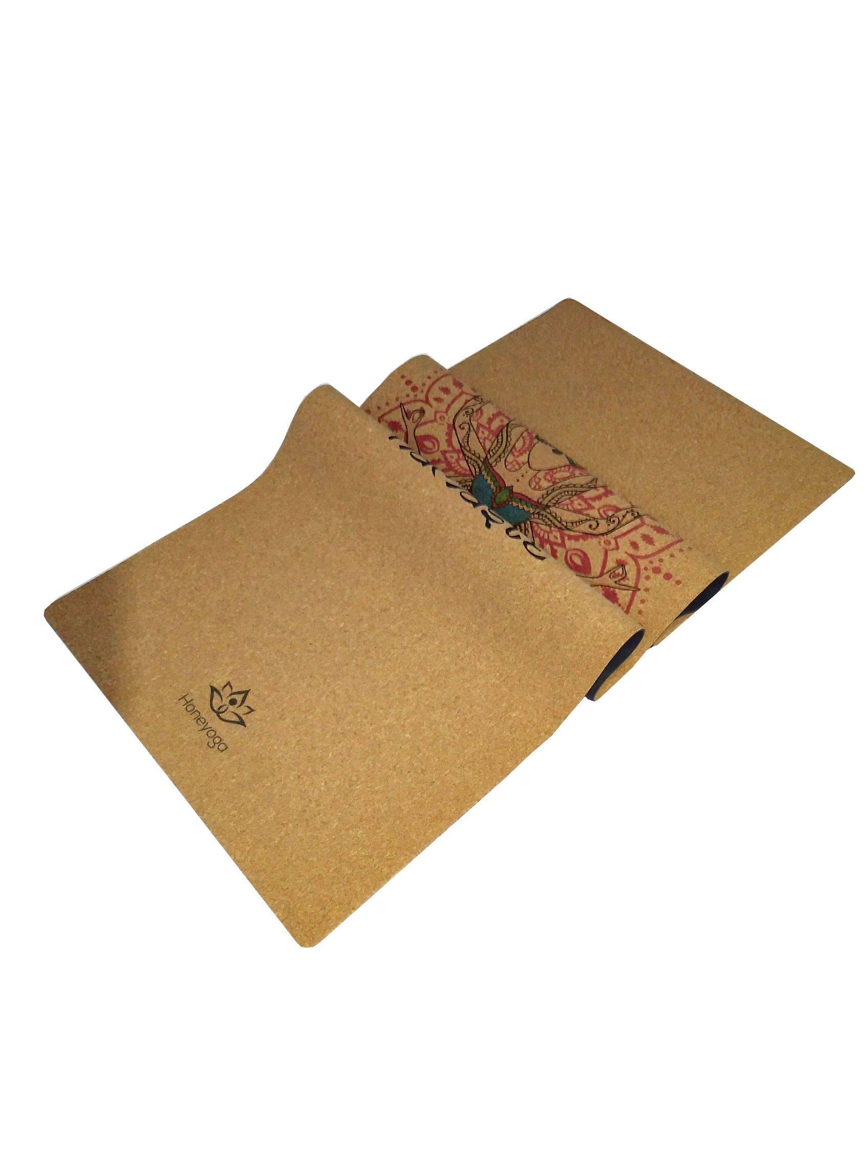 Travel Cork Yoga Mat + Natural Rubber Portable Light Ultimate Non-Slip Yoga Mats