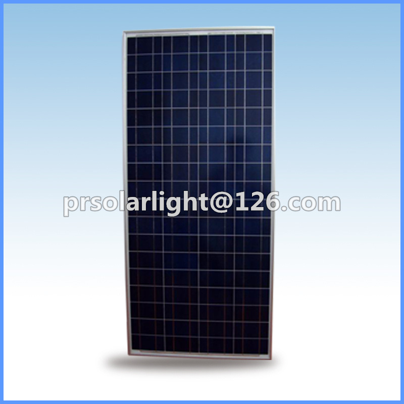 150W High Efficiency Poly Renewable Energy Saving Tempered Glass Solar Panel
