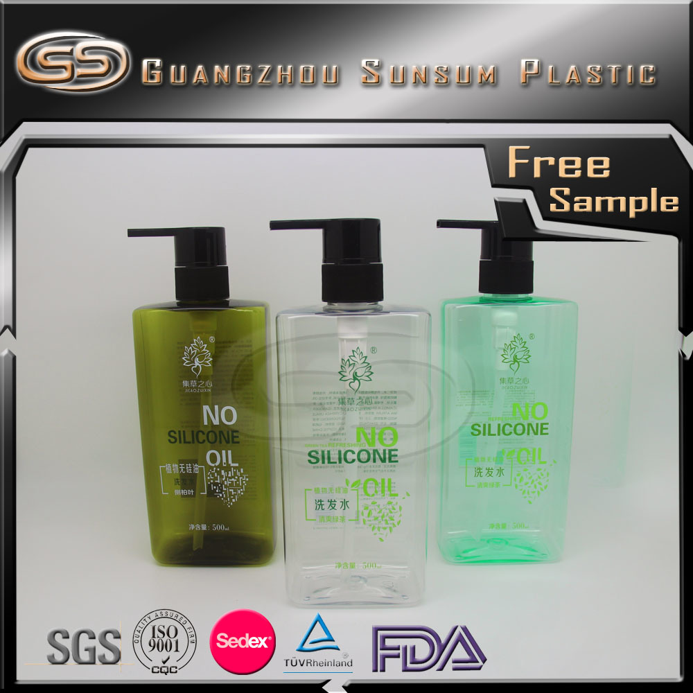 Empty Plastic Hair Shampoo Bottle Hotel Emulsion Toner Facial Cleanser Containers