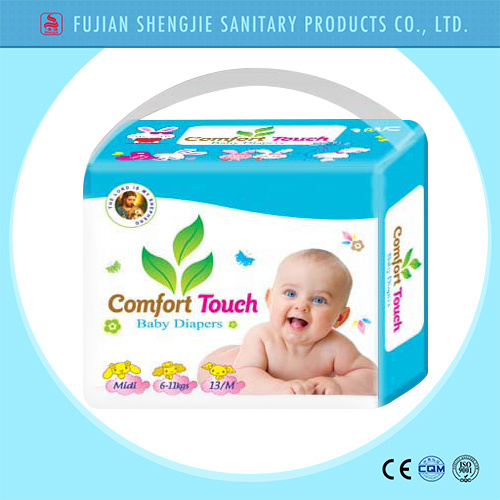 Hot Sale Magic Tape Cloth Like Cover Smart Disposable Baby Diaper Factory Price
