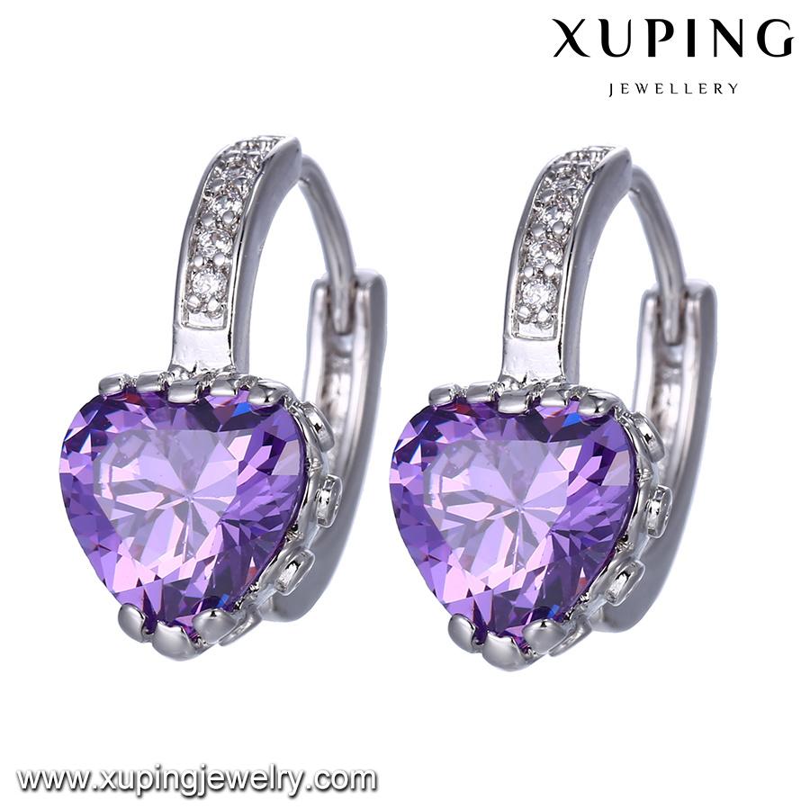 94583 Fashion Rhodium Heart Shaped Best Gift Jewelry Earring
