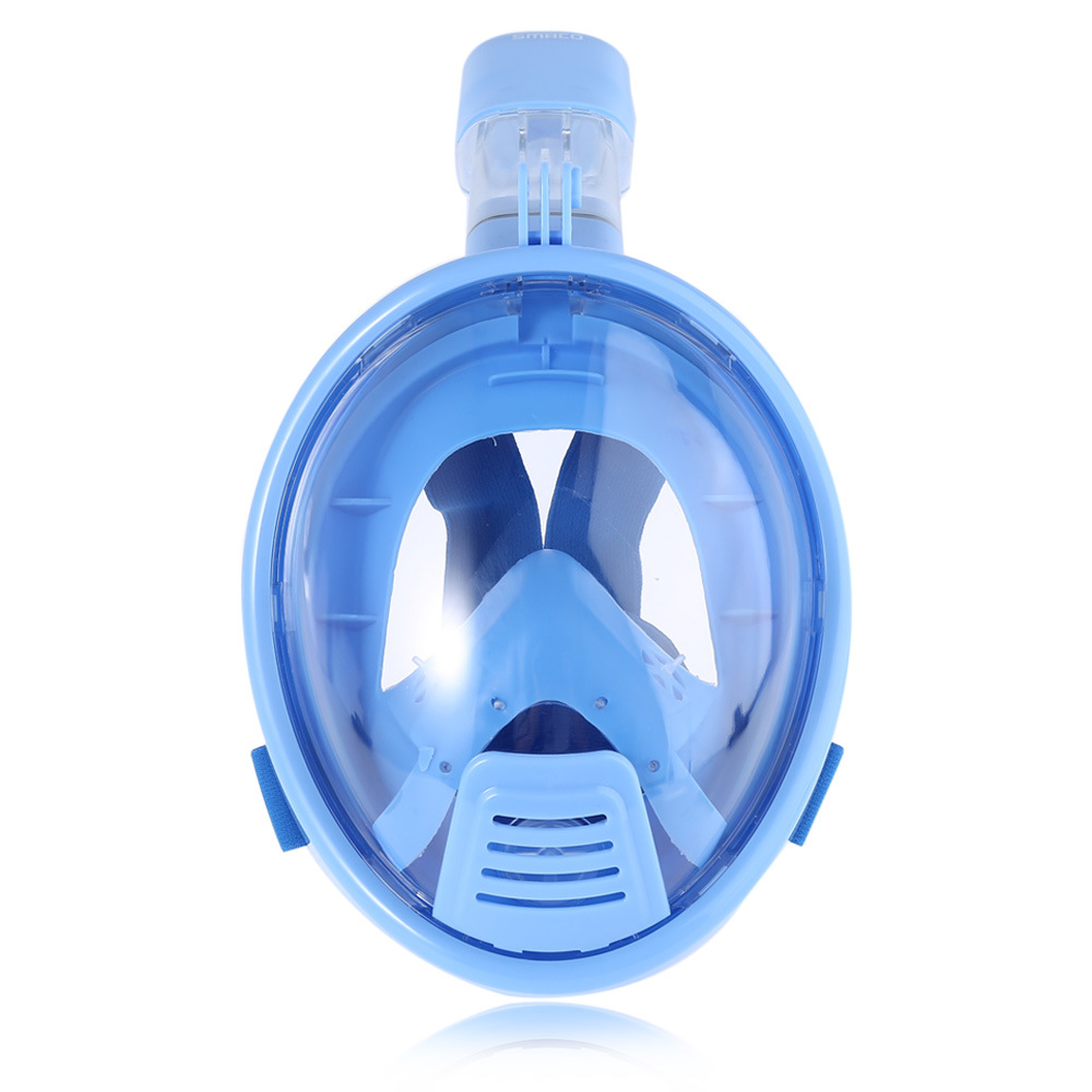 Full Face Snorkel Mask for Kids Diving Masks 180 Degree Seaview with Camera Mount