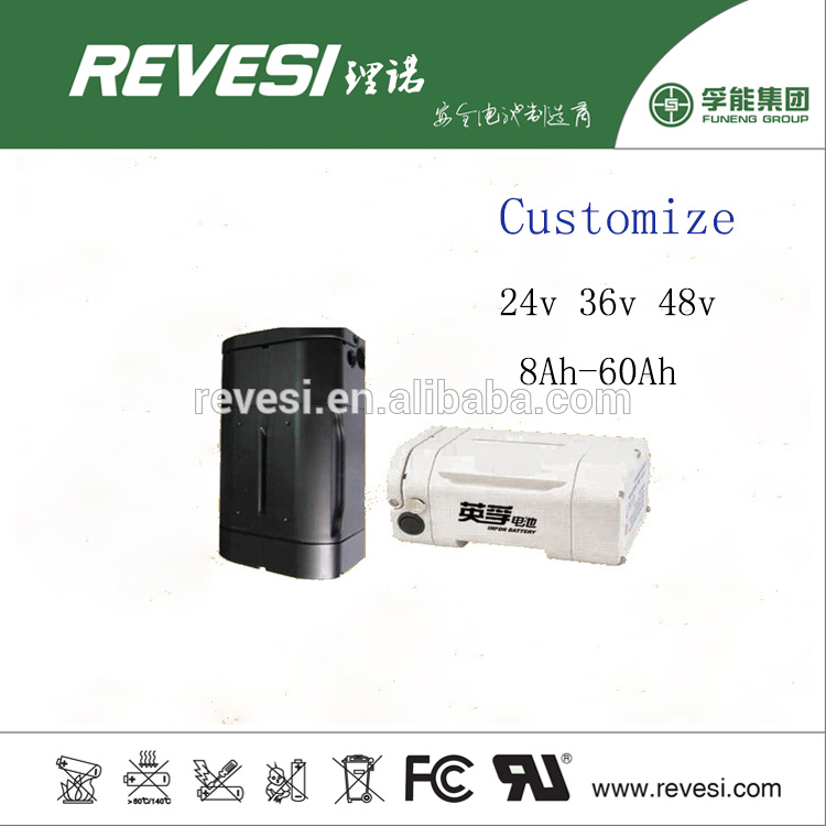 36V 10ah Lithium Rechargeable Battery for E Bike