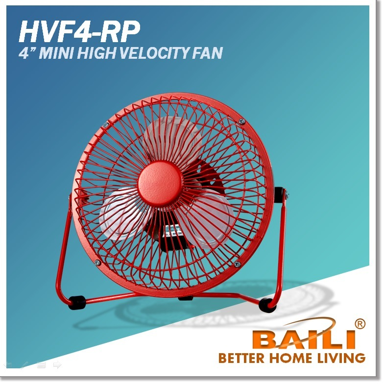 4 Inch Mini USB / AC Desk Fan, High Velocity Fan, Multi-Color