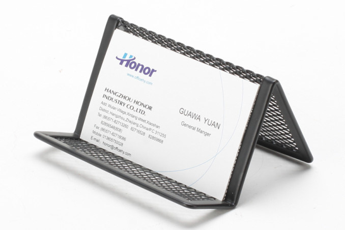 Metal Mesh Stationery Business Card Holder/ Office Desk Accessories
