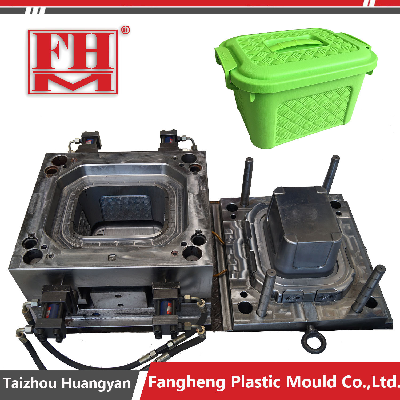 Plastic Rattan Storage Box Injection Mould