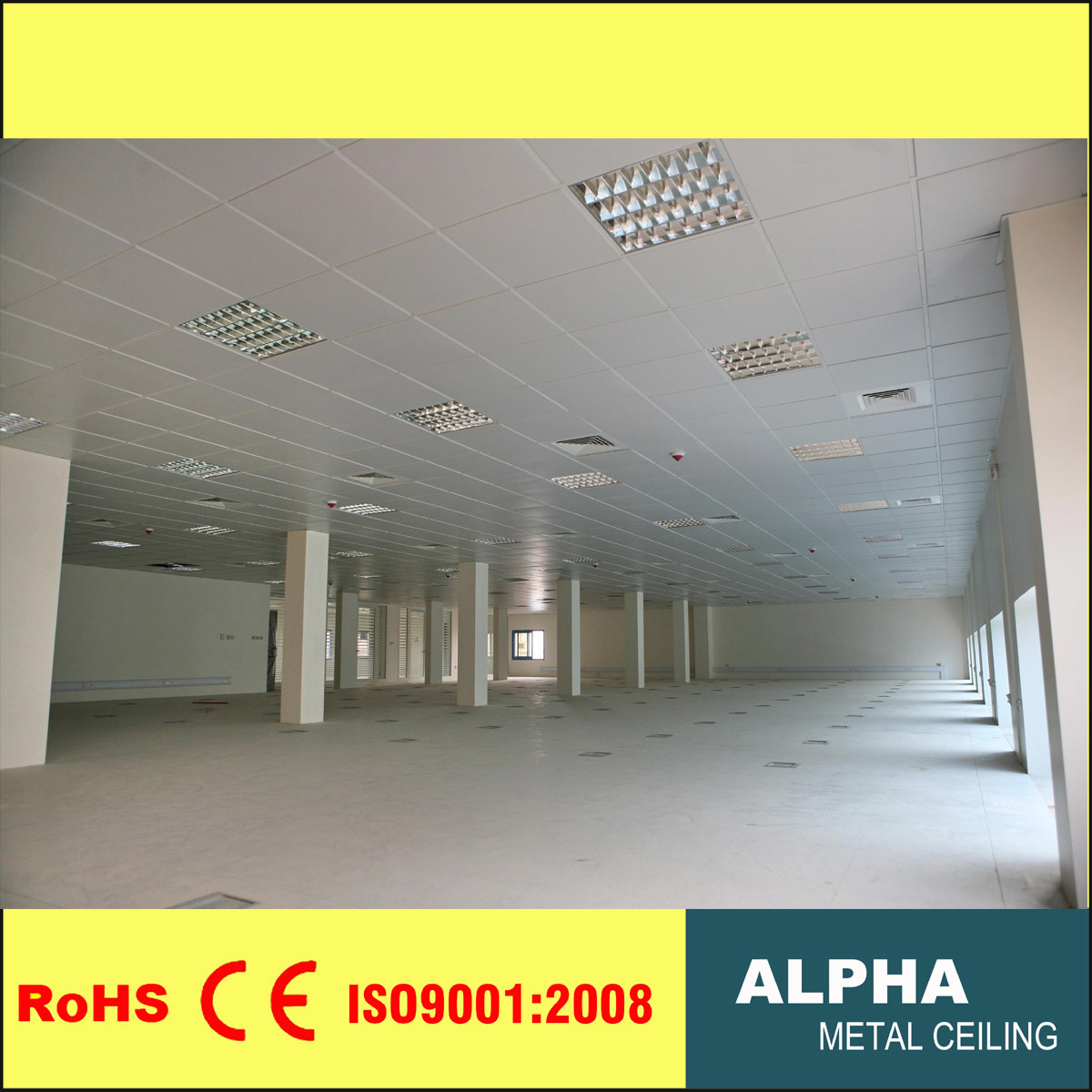 China Suspended False Metal Decorative Exposed Aluminum Lay In Ceiling Tile    China Ceiling, Metal Ceiling