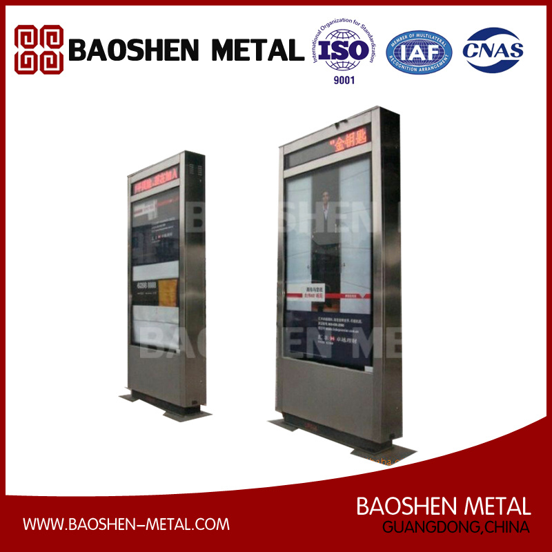 High Quality Stainless Steel for Customized Street Furnitur Bus Stop Advertising Board
