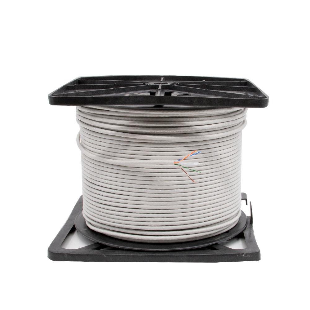 CAT6 UTP Network 305m Cable 0.56mm Bc Fluck Pass Grey PVC