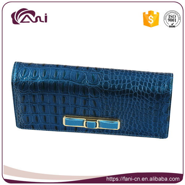Fancy Purses for Women, Fancy Wallet, Blue Genuine Leather Lady Wallet