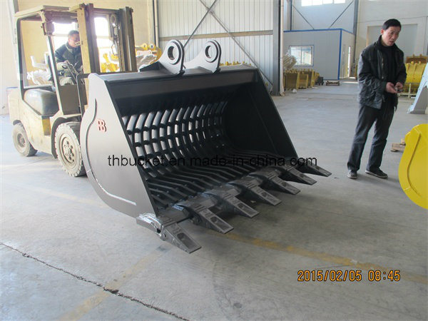Cleaning Rock Bucket for Cat Komatsu Construction Machinery Spare Parts