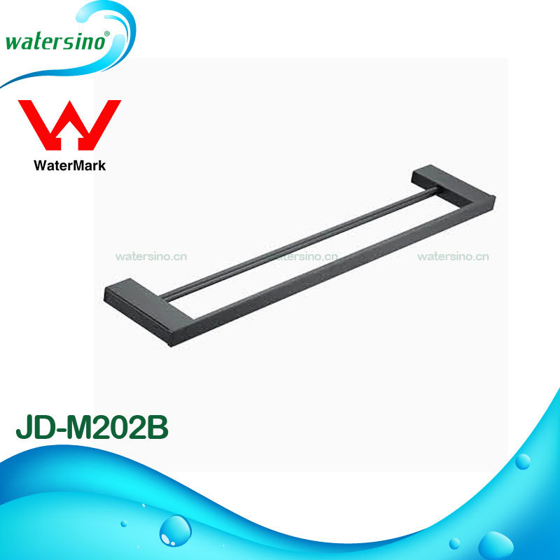 Matte Black Top Quality Europe Hot Selling Bathroom Ware Set Towel Rail