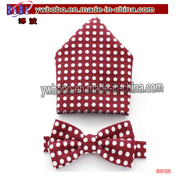 Jacquard Bowtie Men Polyester Bow Tie Woven Tie (B8108)