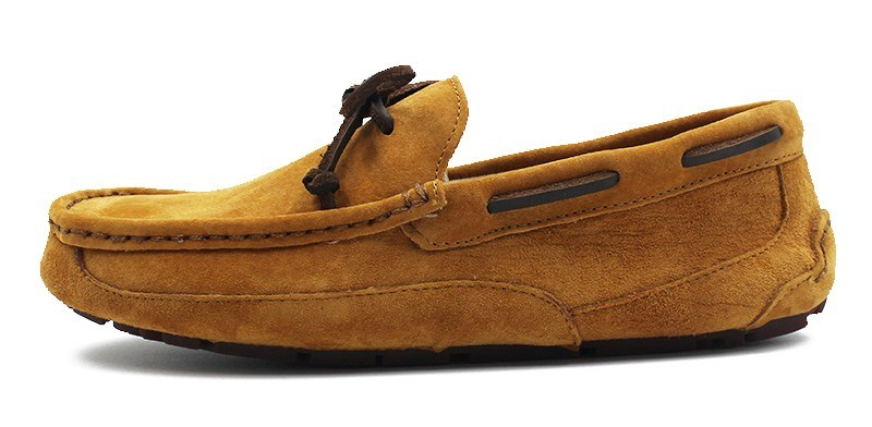 Sheep Skin Leather Men Driving Loafer Shoes