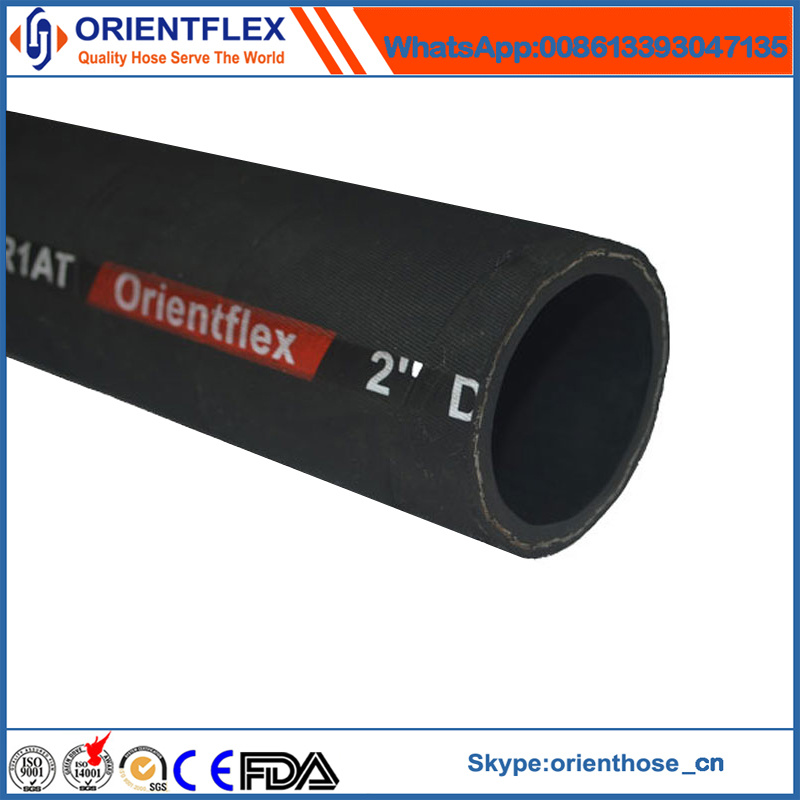 Rubber Hydraulic Hose Steel Wire Braid Oil Resistant Pipe