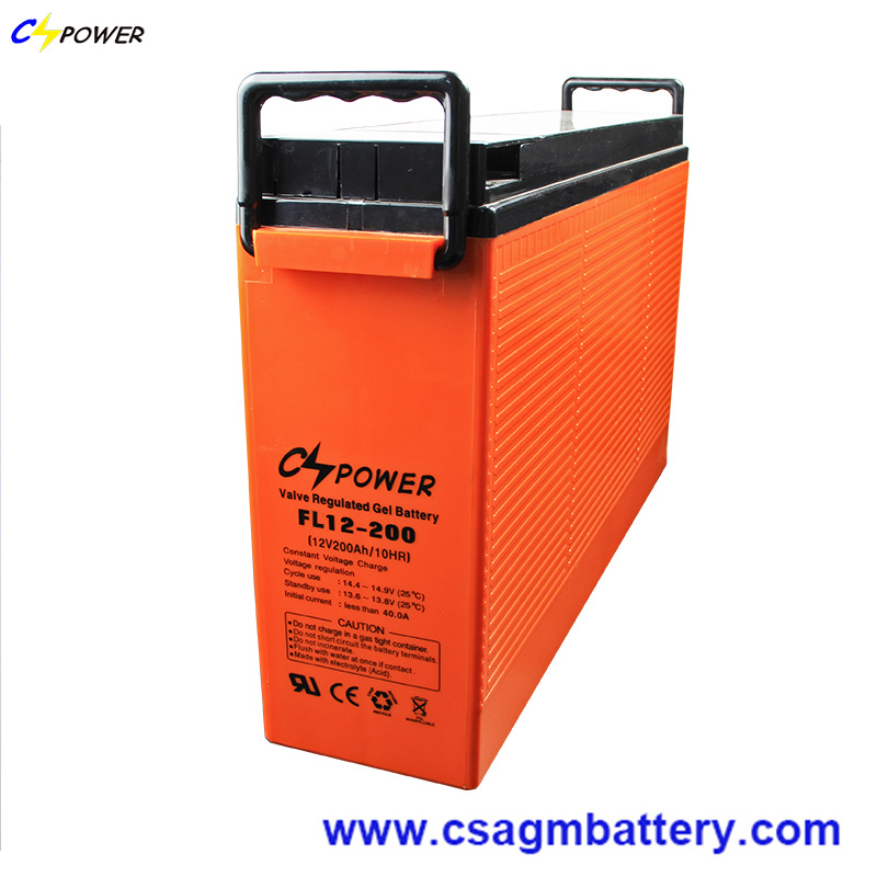 Fl12-200 12V200ah Front Terminal Solar Gel Battery with 3 Years Warranty