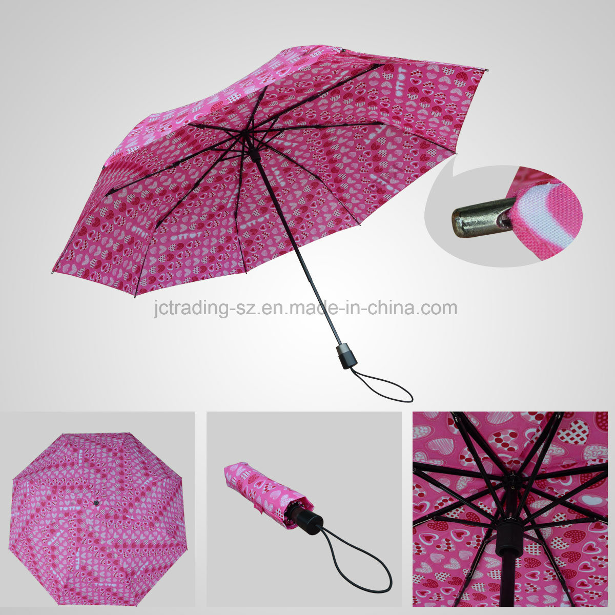 3 Fold Rotating Manual Umbrella Lady Folding Umbrella (JF-MXZ301)